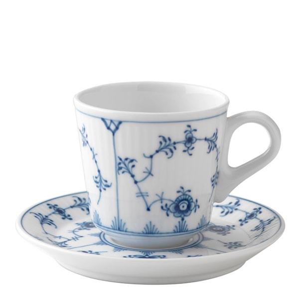 Blue Fluted Plain Espressogods 9 cl