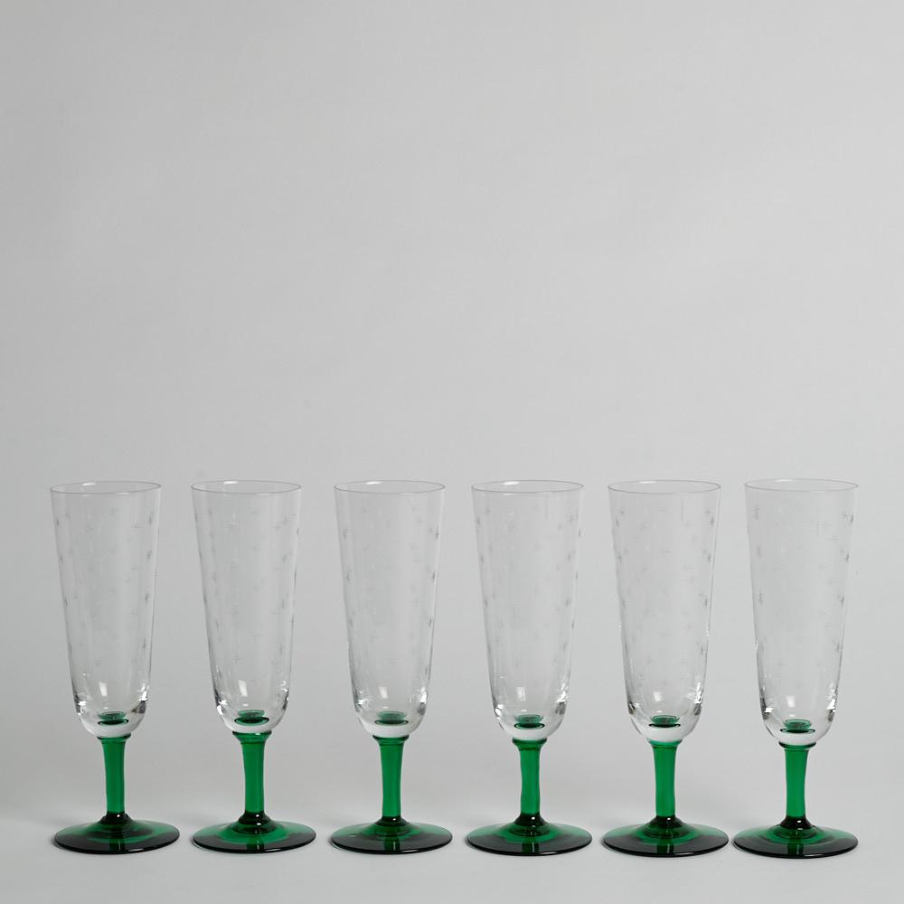 Reijmyre Glasbruk - Champagneglas B6 av Monica Bratt 6 st
