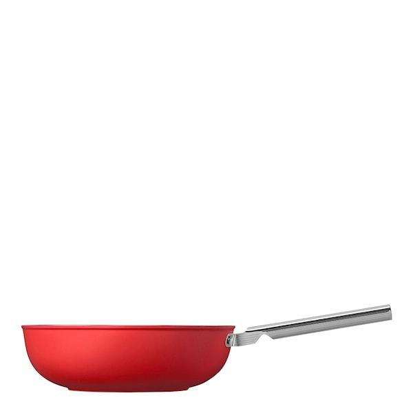 Smeg 50's Style Wokpanna 30 cm Röd