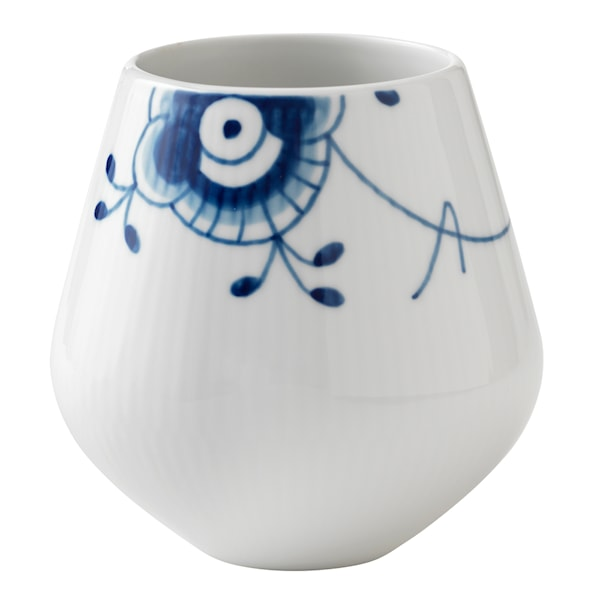 Blue Fluted Mega Vas 12 cm
