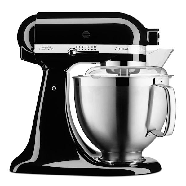 KitchenAid Artisan Kjøkkenmaskin 4,8 + 3 L + Tilbehør Svart