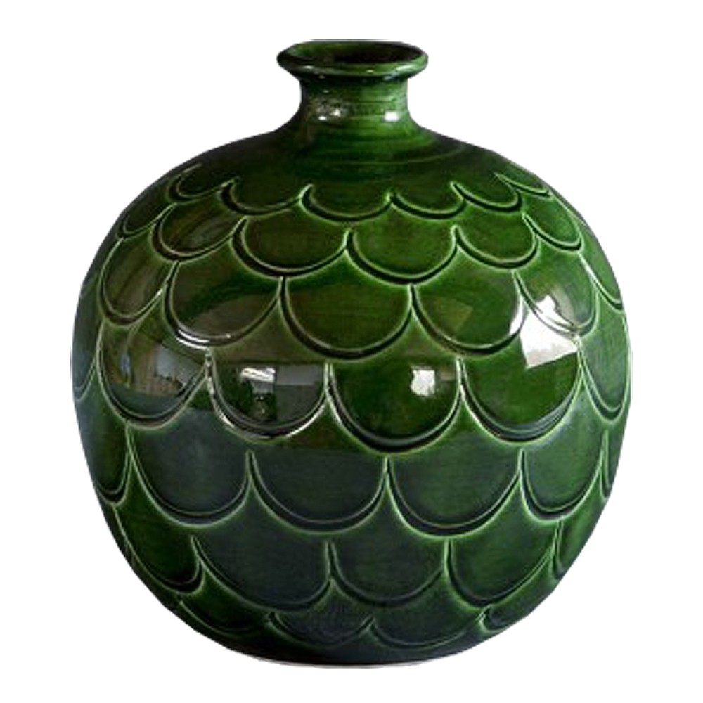 Bergs Potter - Misty Vas rund 25 cm Grön emerald