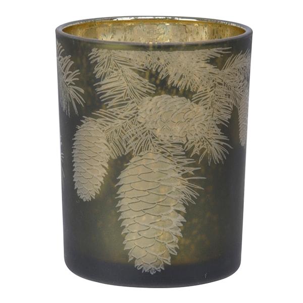 Holmen AmedoTelysholderKonglerGrønn 13 cm Glass