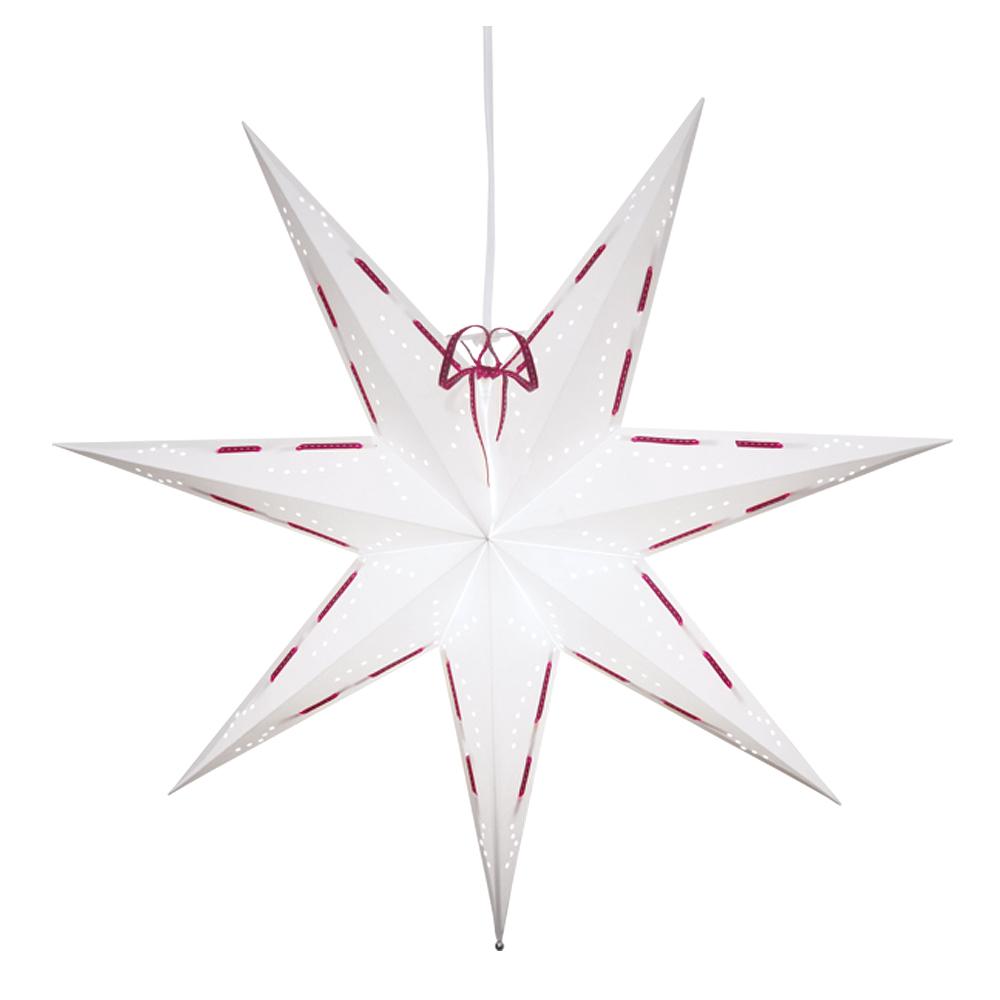 Star Trading - Vira Julstjärna 60 cm Vit/Röd
