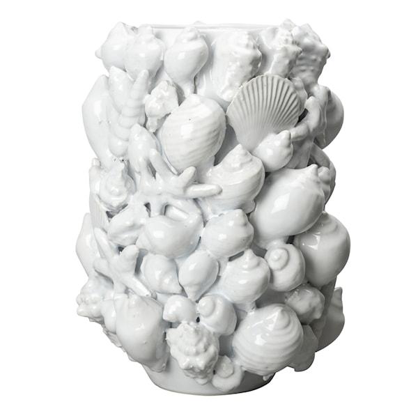 Ocean Vas Snäckor 23x30,5 cm Vit