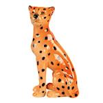 Leopard Ljusstake 18 cm Keramik