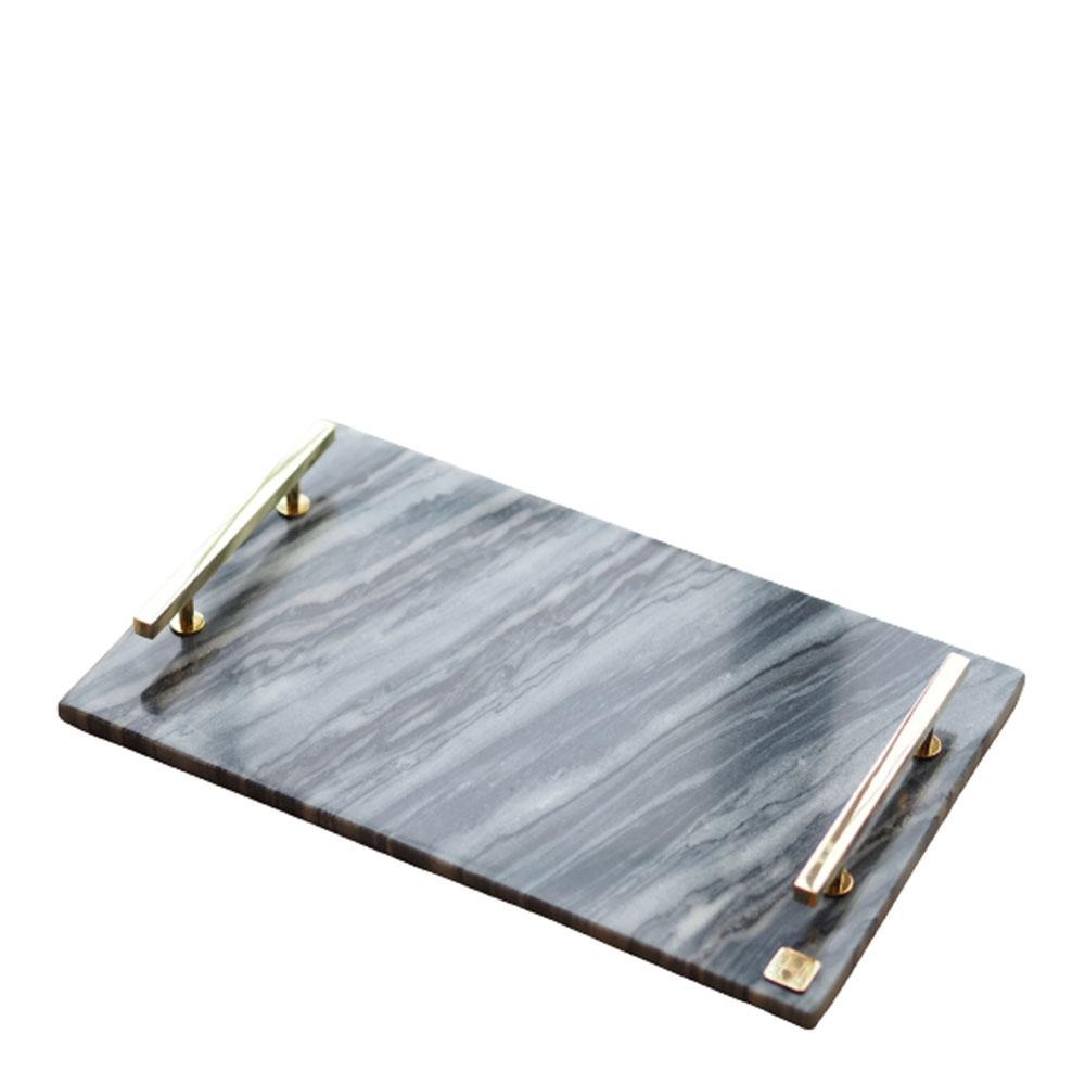 Hilke - Hilke Bricka Marmor 40,5x25,5 cm Mässing