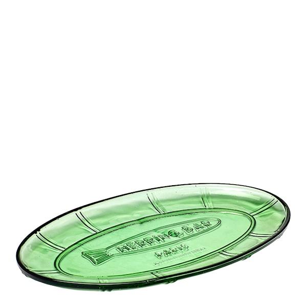 Fish & Fish Serveringsfat oval 31x17 cm Grön