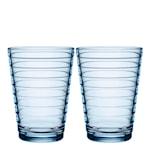 Aino Aalto Glass 33 cl 2-pakning Aqua