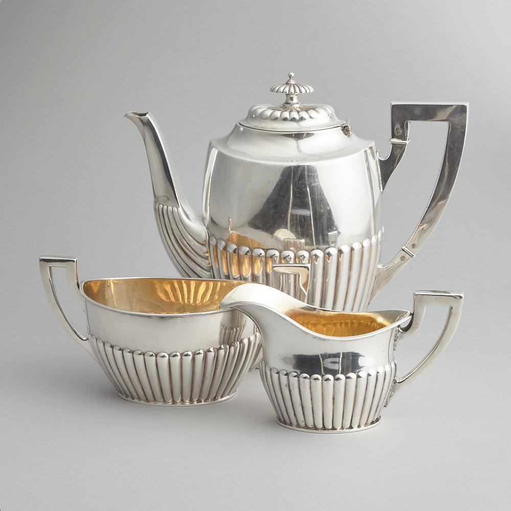 Vintage - Kaffeservis Nysilver 3 delar