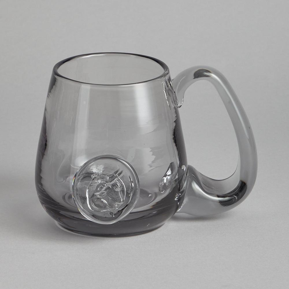 Reijmyre Glasbruk - Gråtonade Ölsejdlar med Emblem 5 st