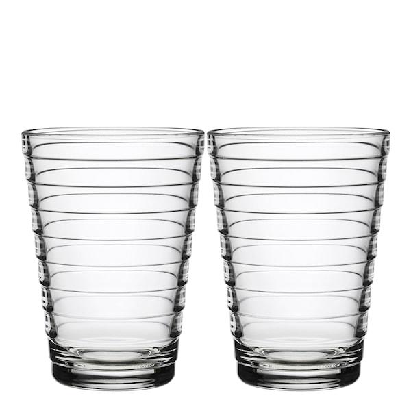 Iittala Aino Aalto Glass 33 cl 2-pakning Klar