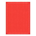 Åttebladrose Klut 150x200 cm Rød