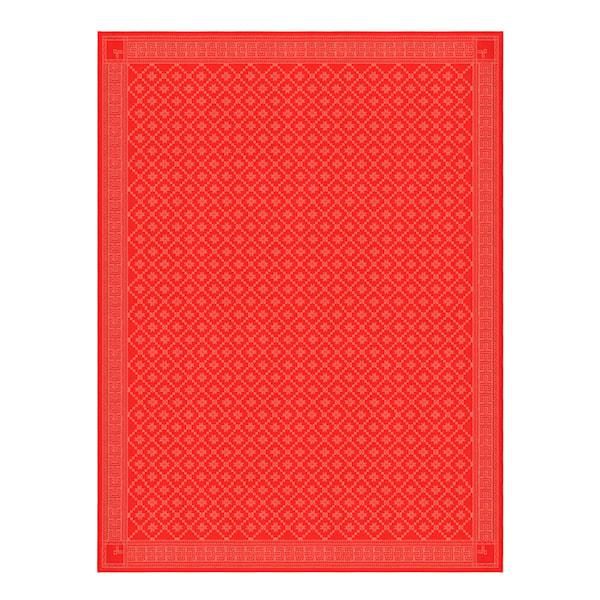 Ekelund Åttebladrose Klut 150x200 cm Rød