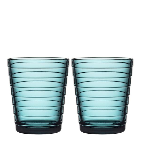 Iittala Aino Aalto Glass 22 cl 2-pakning Havblå