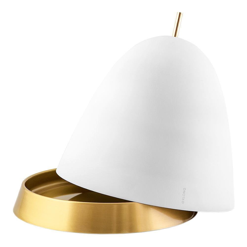 Klong - Gömma Kupa/Fat 34 cm Vit/Mässing