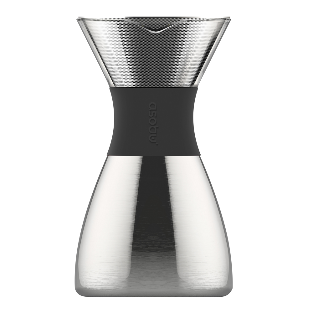 Asobu - Pour Over Bryggare 1 L Silver/Svart