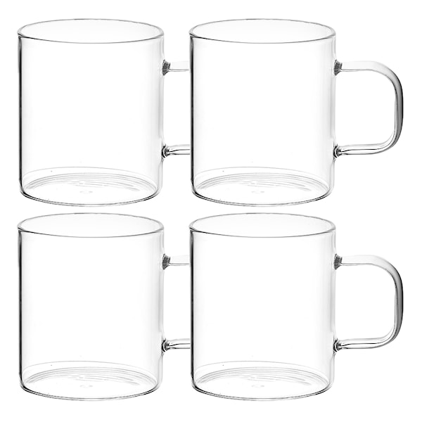 Glasmugg 18 cl 4-pack Klar