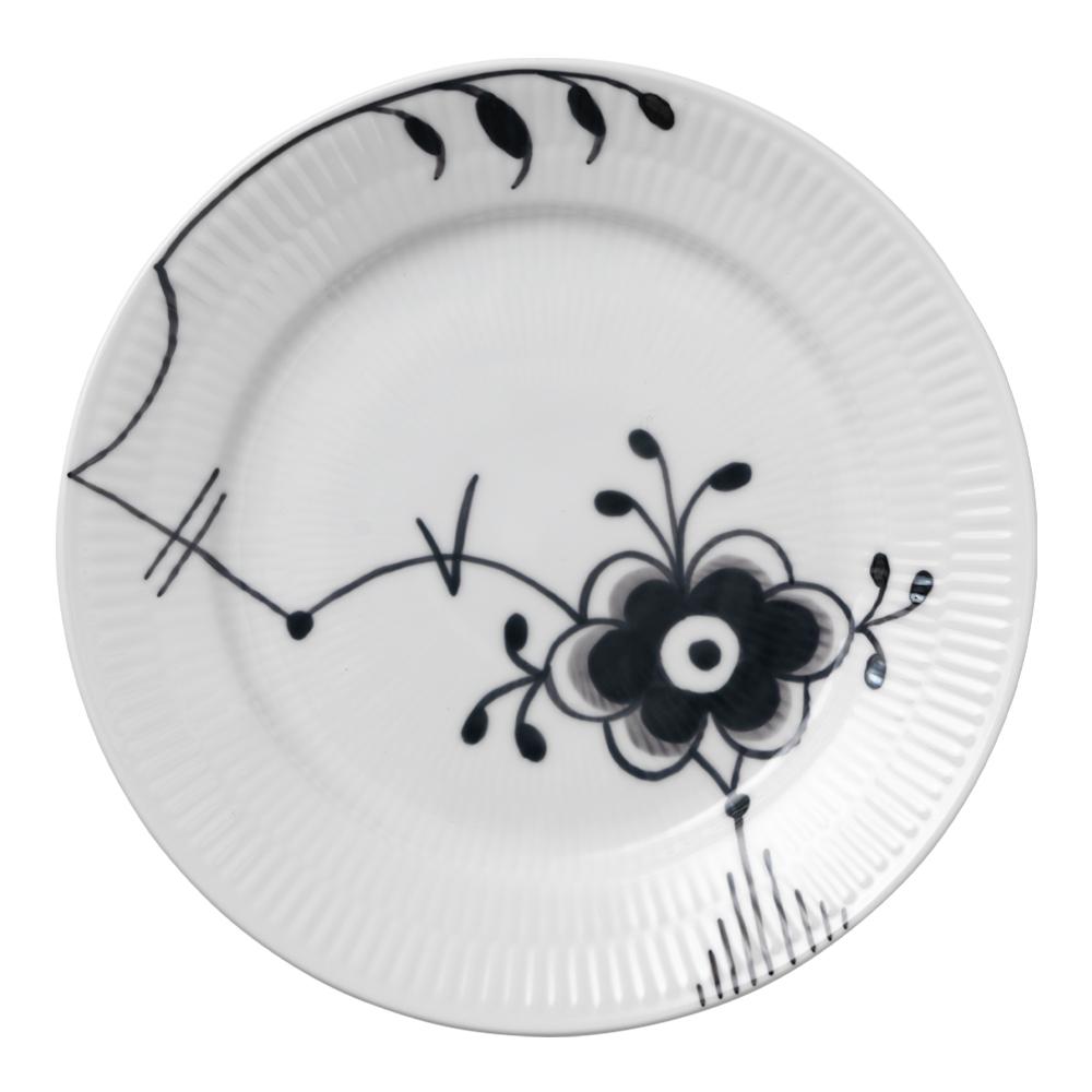 Royal Copenhagen - Black Fluted Mega Tallrik 19 cm dekor 6