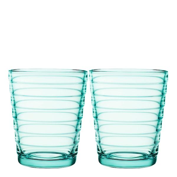 Iittala Aino Aalto Glas 22 cl 2-pack Vattengrön