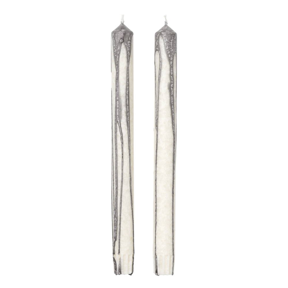 Ferm Living - Duo Candle Ljus 26 cm 2-pack Warm Grey