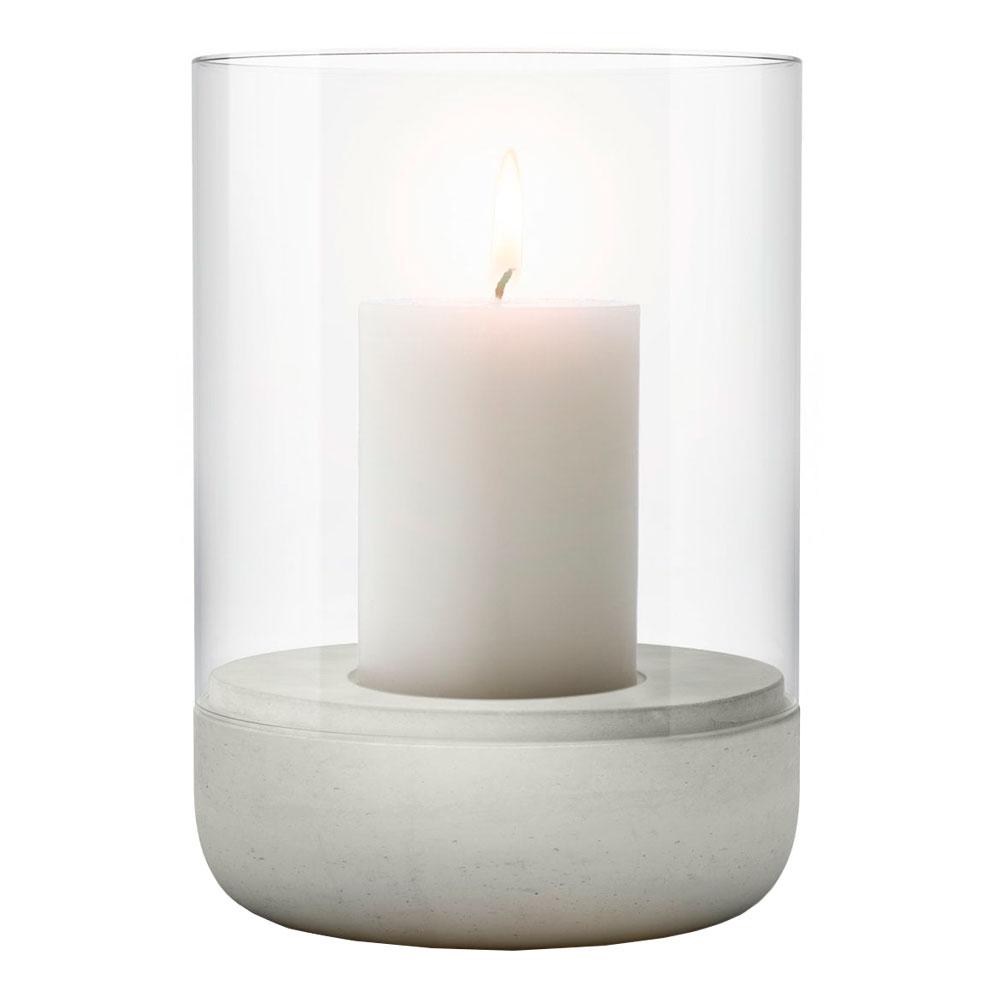 Blomus - Calma Stormlykta med ljus 22,5 cm Ljusgrå