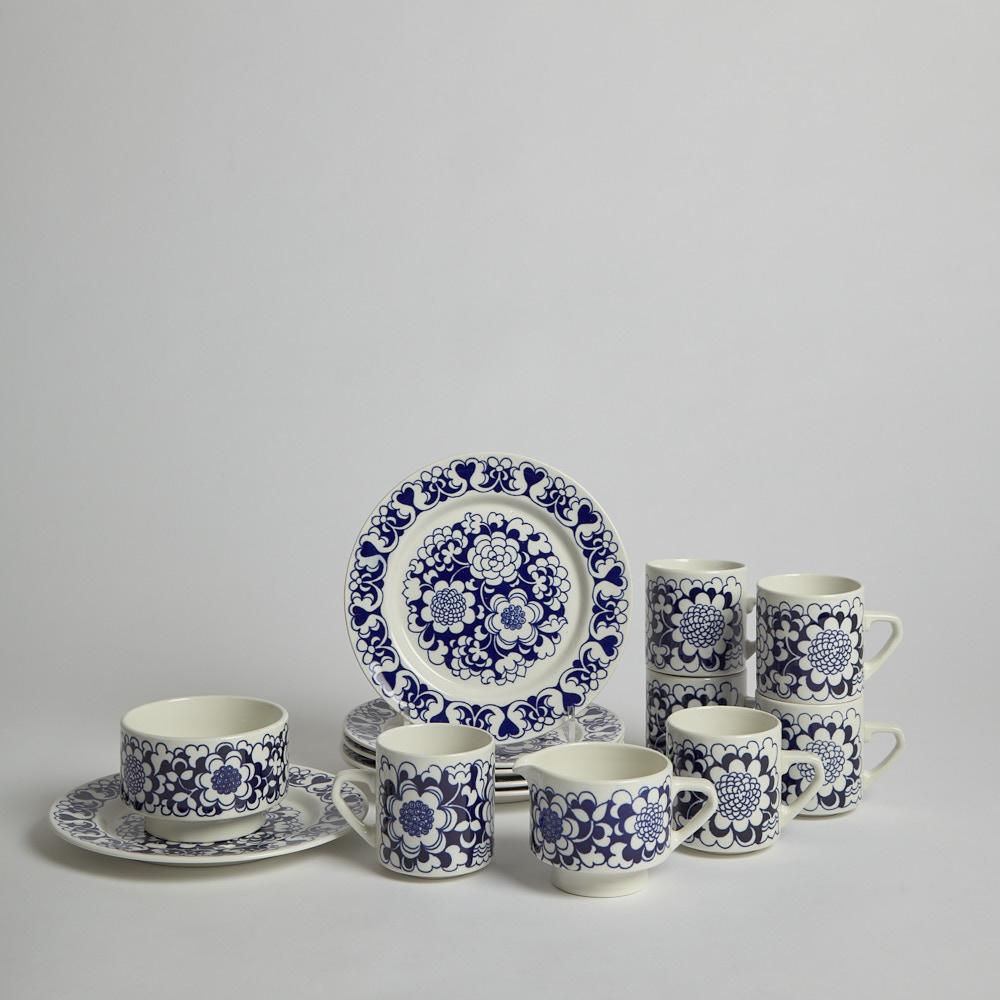 "Arabia - Kaffeservis ""Gardenia"" 14 delar"