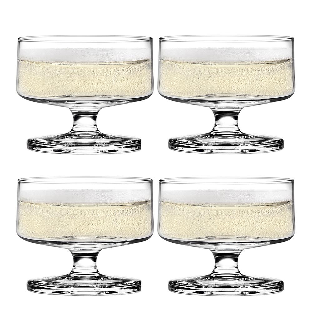 Holmegaard - Stub Champagneglas/Dessertglas 20 cl 4-pack