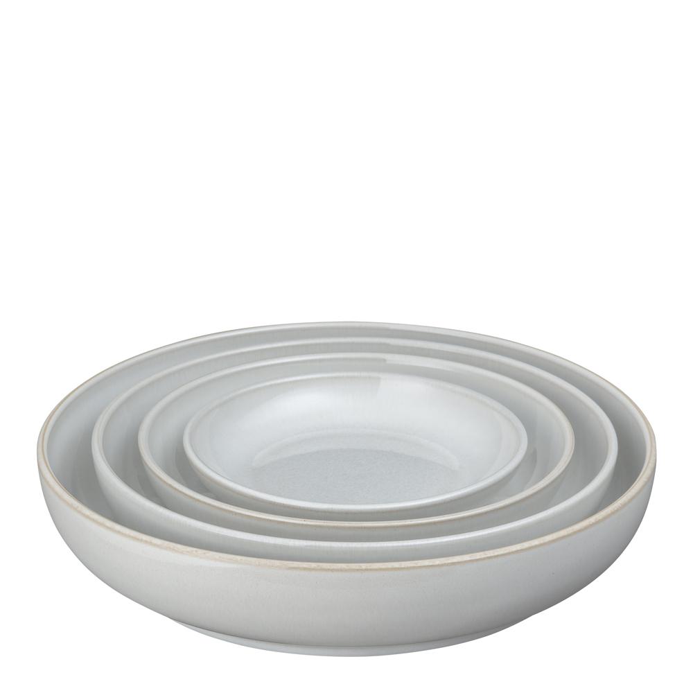 Denby - Natural Canvas Serveringsskål 4-pack  Vit