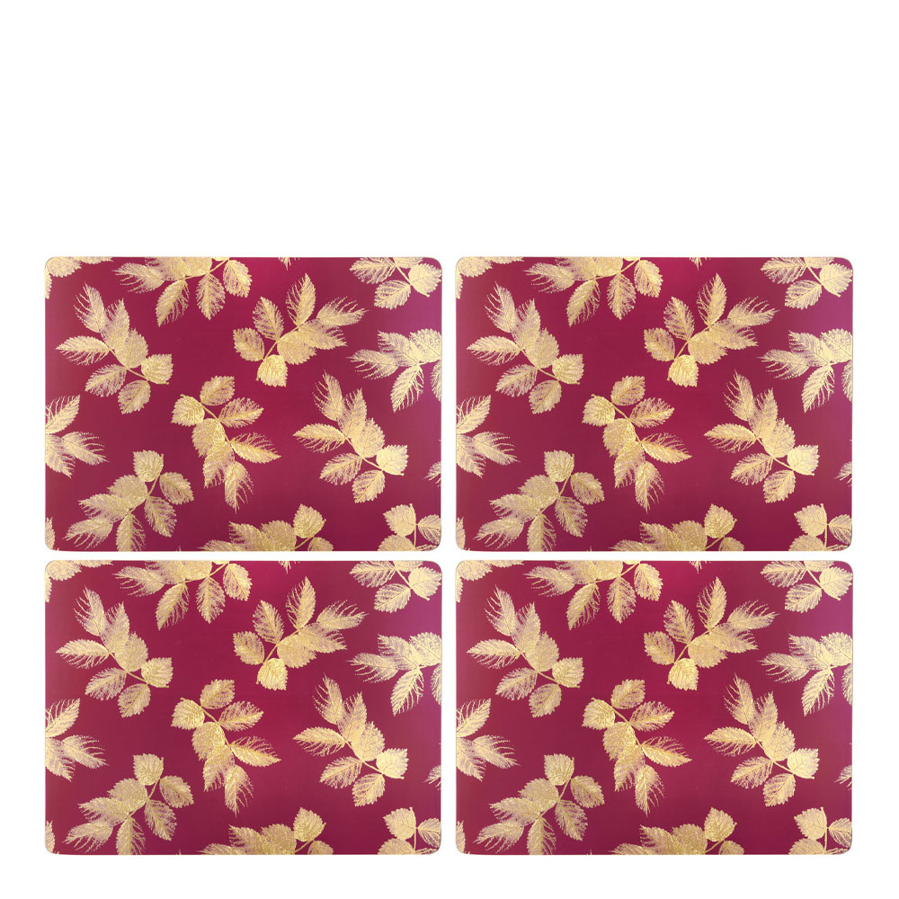 Pimpernel - Etched Leaves Tablett 30x40 cm 4-pack  Rosa