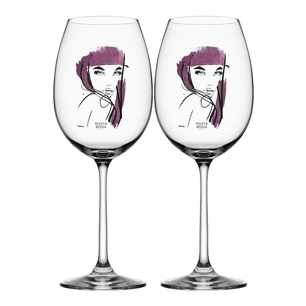All About You Vinglas 52 cl 2-pack Aubergine Purple