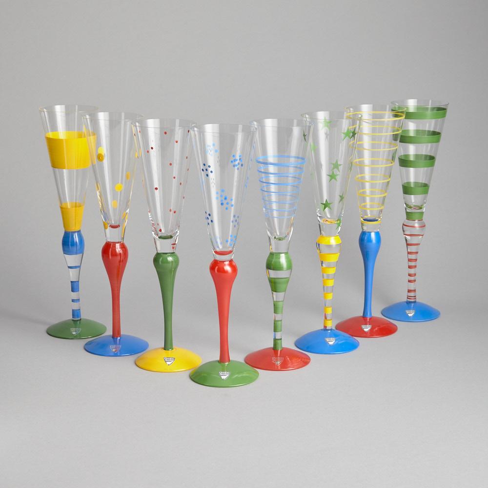 "Orrefors - Champagneglas ""Clown"" 8 st"