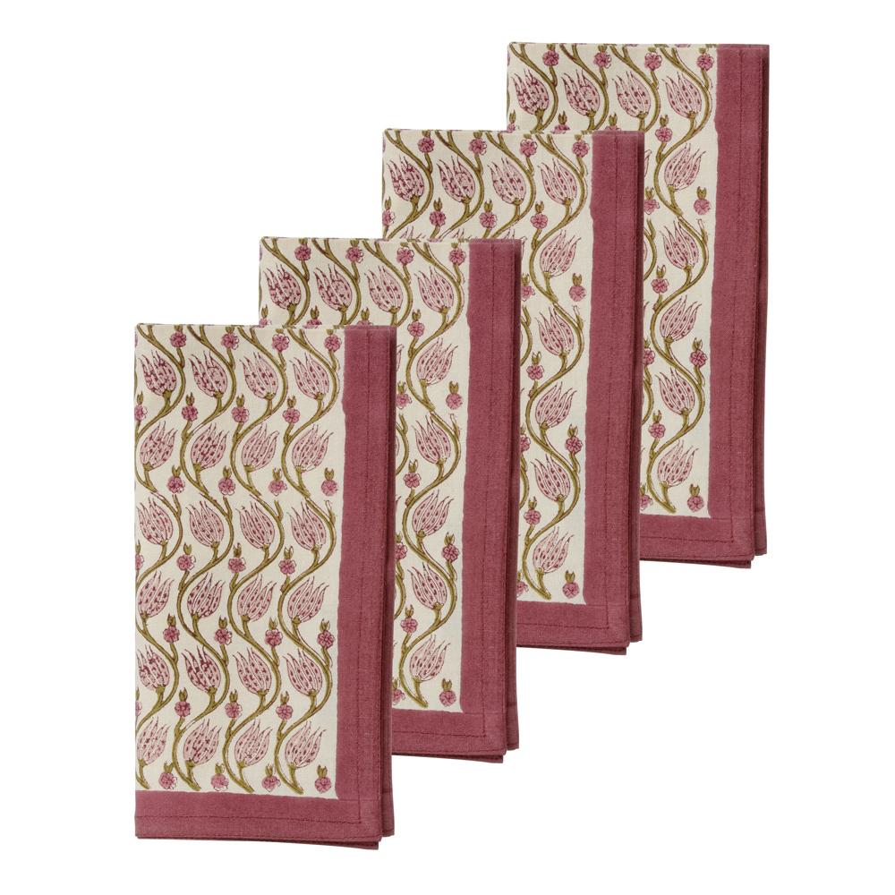 Bungalow - Lotus Servett 45x45 cm 4-pack Rubin