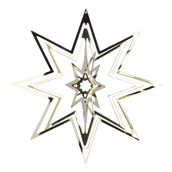 Istind Juldekoration Stjärna 8 cm Guld
