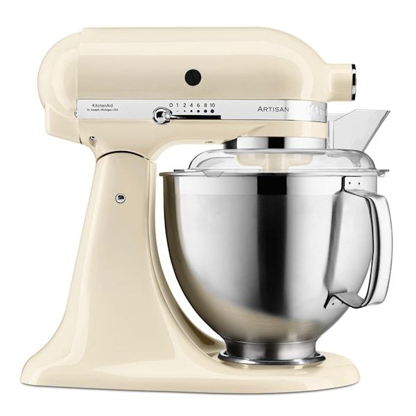 KitchenAid Artisan Kjøkkenmaskin 4,8 + 3 L + Tilbehør Creme