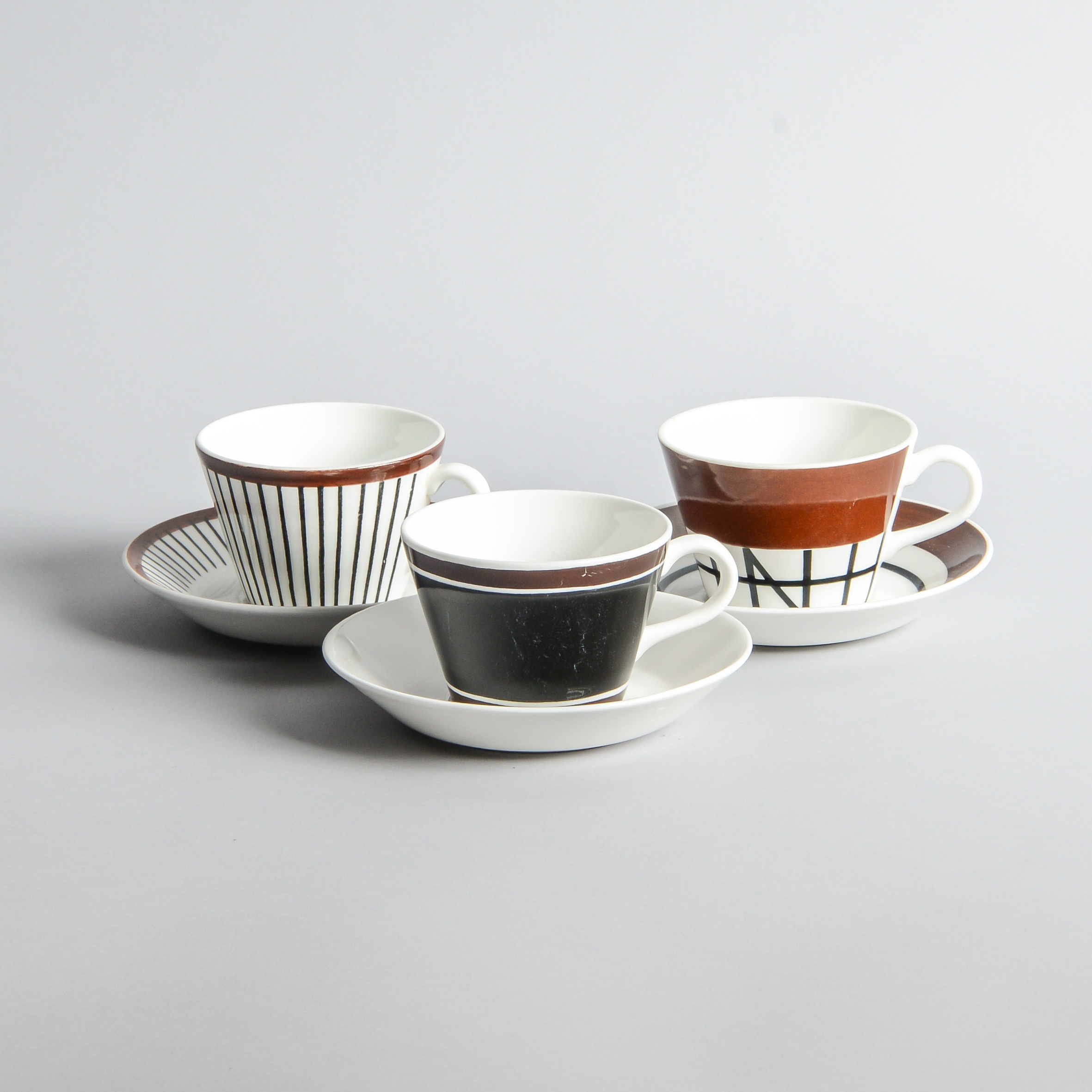 """Gustavsberg - Kaffekoppar """"Terra"""", """"Spisa Ribb"""" och """"Korsvirke"""""""