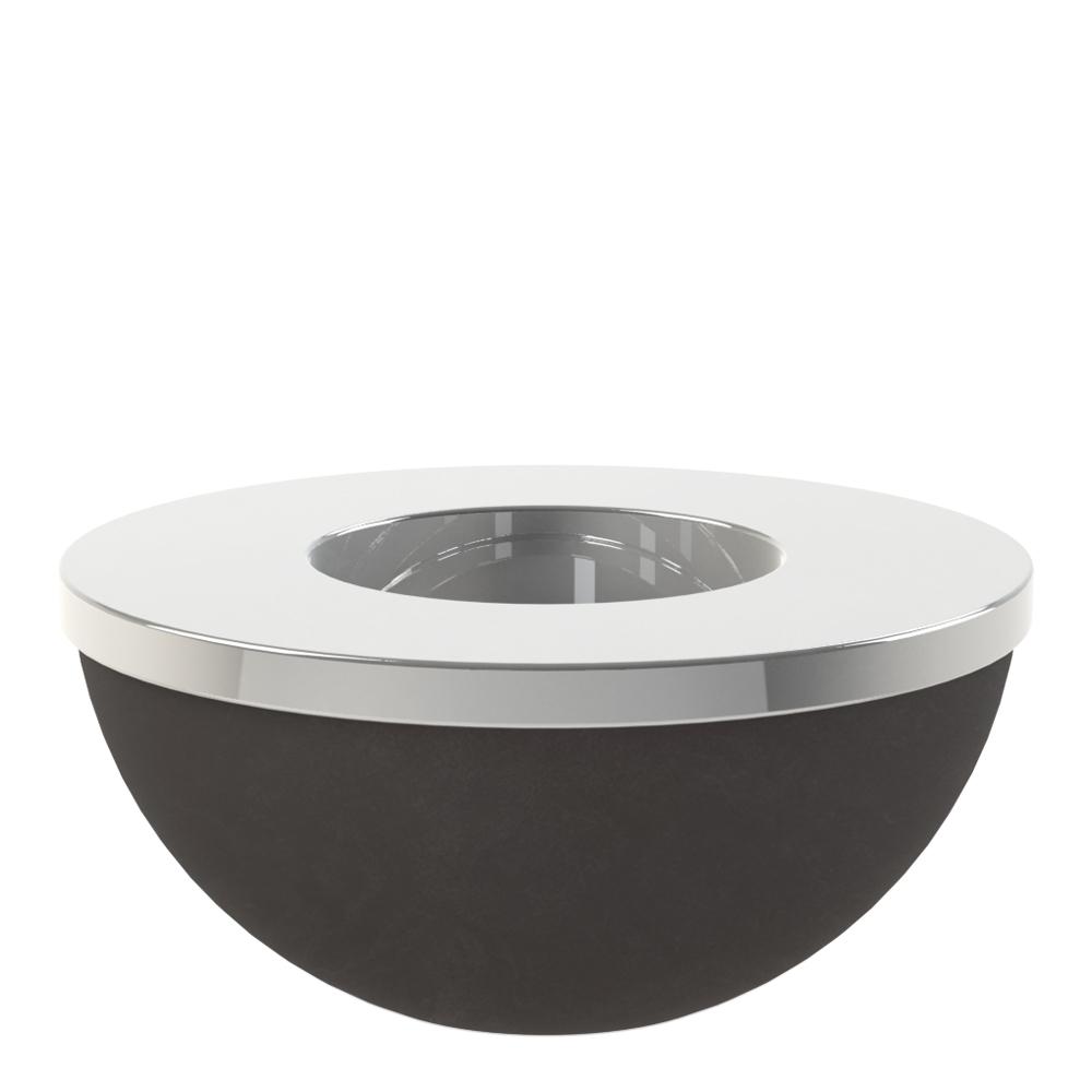Cooee - Light Bowl Ljushållare/skål 8 cm Svart/Silver