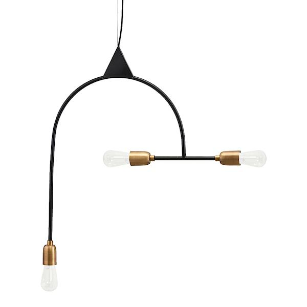 Arch Lampa Svart/Mässing