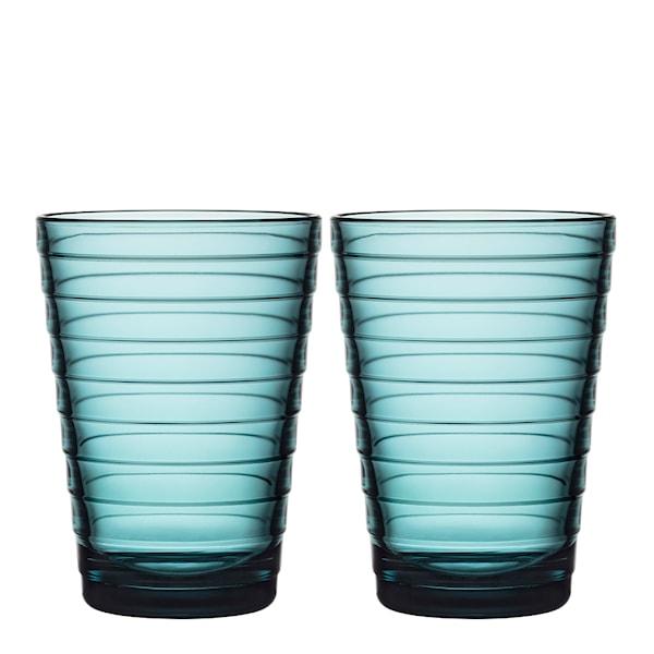 Iittala Aino Aalto Glass 33 cl 2-pakning Havblå