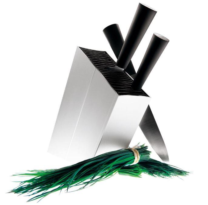 Eva Solo - Knivblock lutande Aluminum