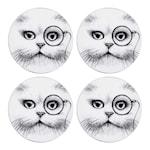 Glasunderlägg Cat Monocle 4-pack