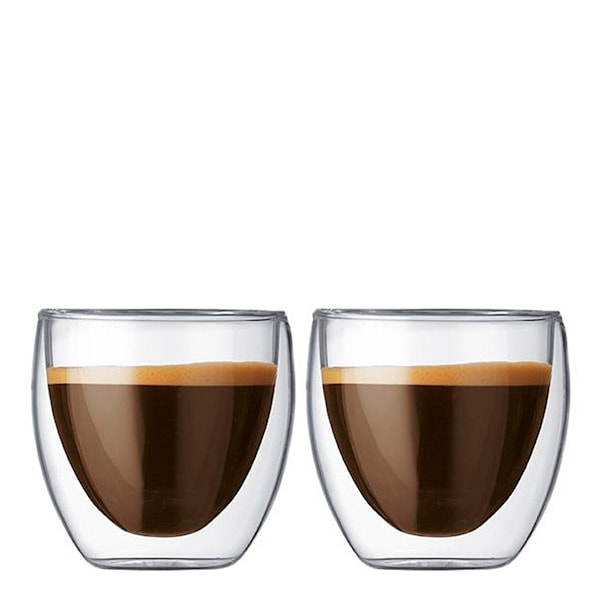 Pavina Espressoglas dubbelväggad 8 cl 2-pack
