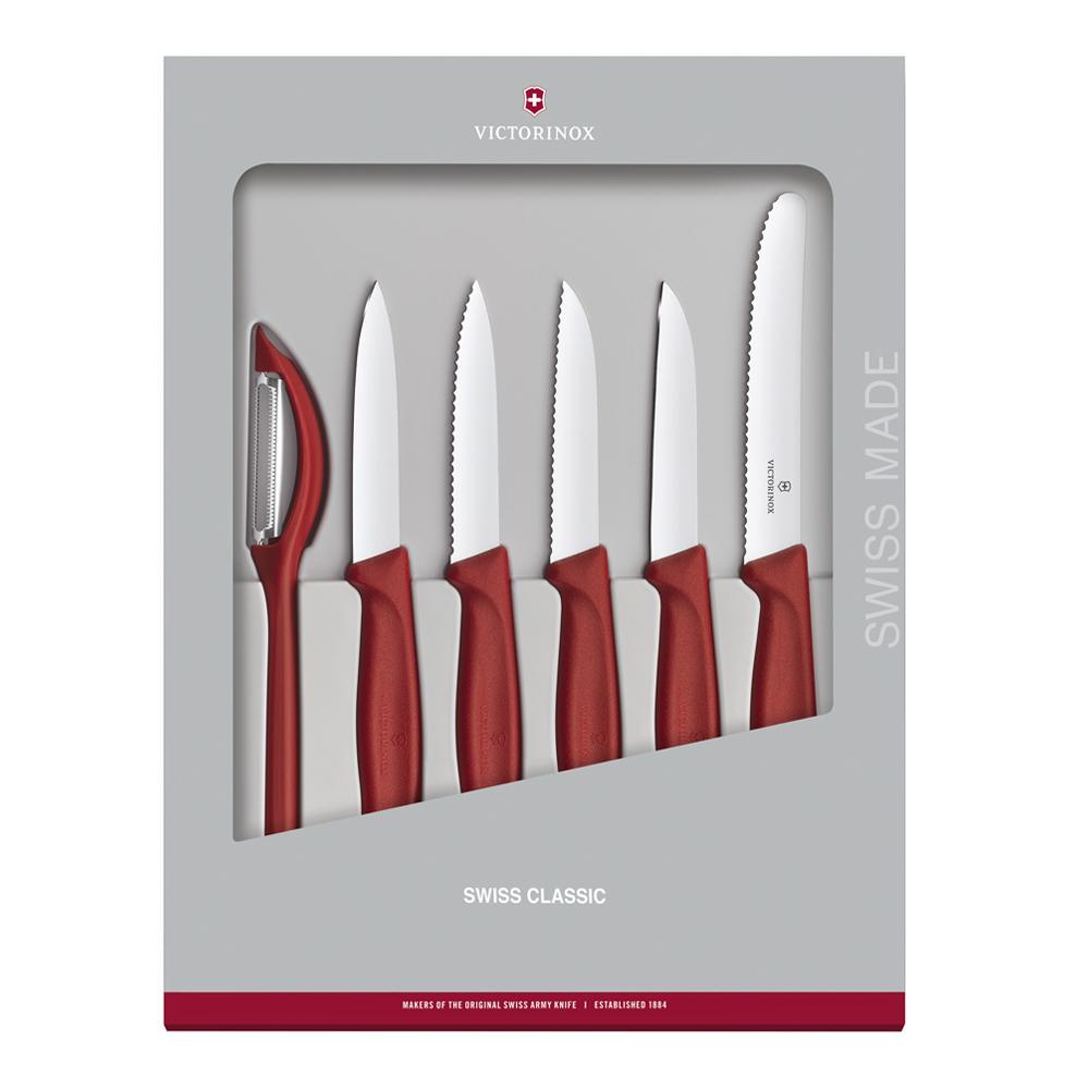 Victorinox - Swiss Classic Knivset 6 delar Röd