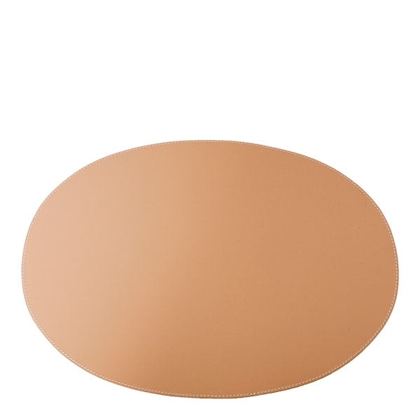 Leather Tablett Oval 34x47 cm