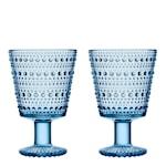 Kastehelmi Glas på fot 2-pack Aqua