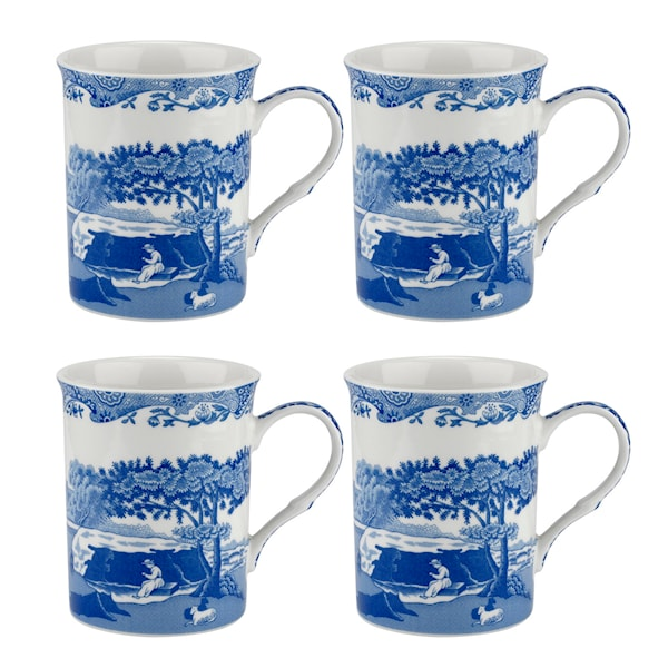 Blue Italian Mugg 34 cl 4-pack