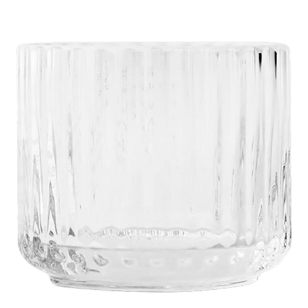 Lyngby Porcelain - Lyngby Ljuslykta liten glas Klar