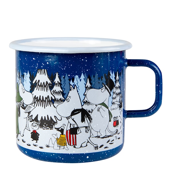 Mumin Emaljmugg Winter Forest 8 dl