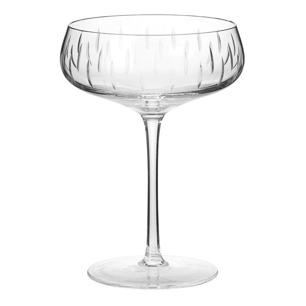 Louise Roe Copenhagen - Crystal Glass Champagne Coupe Klar