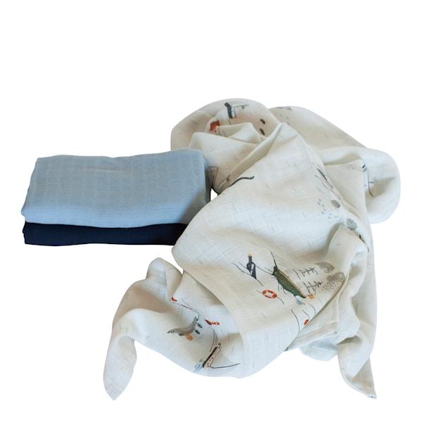 Muslinfilt 75x75 cm 3-pack